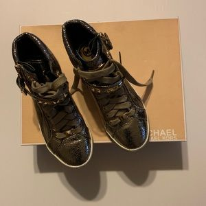 Michael Kors Metallic Gold Sneakers